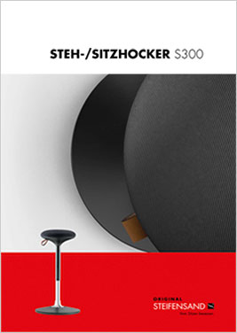 http://inspiro24.deSTEH-/SITZHOCKER S300GESUNDES SITZEN DURCH AKTIVE BEWEGUNG.Sitzen oder stehen Sie bewegt und abwechlungs- reich mit unserem formschönen sowie ergonomi- schen Steh-/Sitzhocker S300. Geschmeidige Bewegung, schlichtes Design, Ele- ganz, Funktionalität und hochwertige Komponen- ten machen den S300 zum idealen Partner für Ihre Arbeitsumgebhttp://inspiro24.de/wp-content/uploads/Steifensand_StehSitz_S300_Flyer.pdfSTEH-/SITZHOCKER S300STEH-/SITZHOCKER S30303030